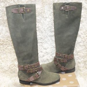 Marc Fisher Knee High Riding Style Zip Up Boots